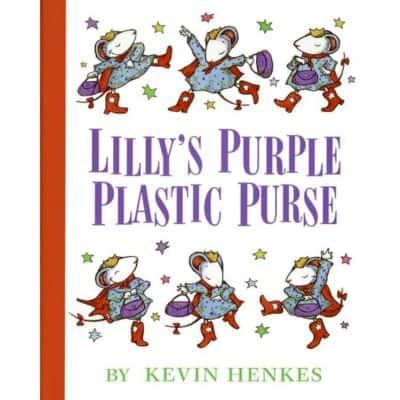 lily's purple plastic purse cover