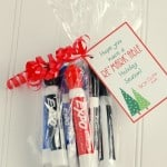 Pair some markers with this cute printable tag for a perfect Teacher Christmas Gift!