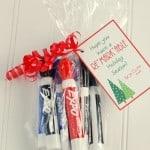 Teacher Christmas Gift Idea- Markers {Free Printable}