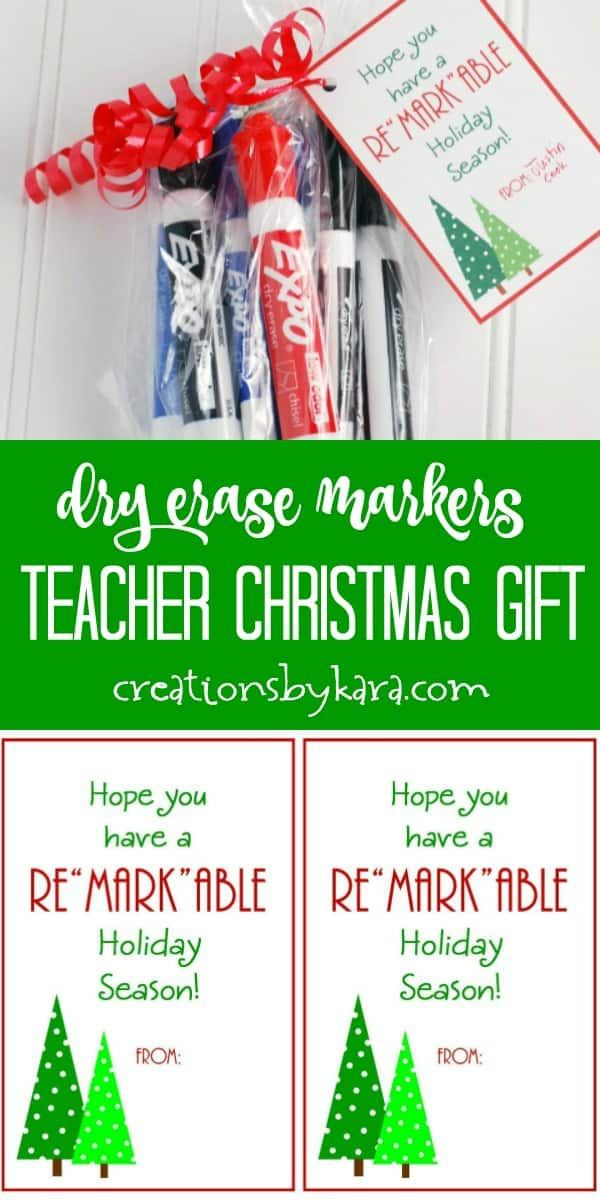 markers teacher christmas gift tags collage