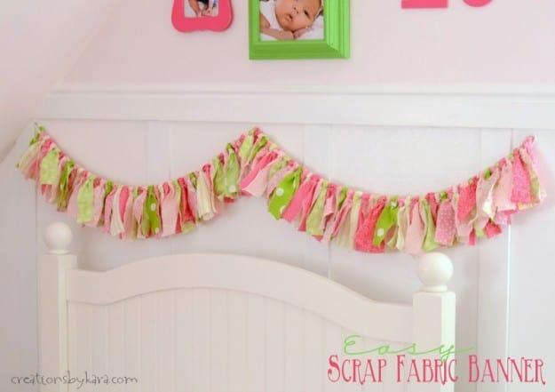 Easy Fabric Scrap Bunting