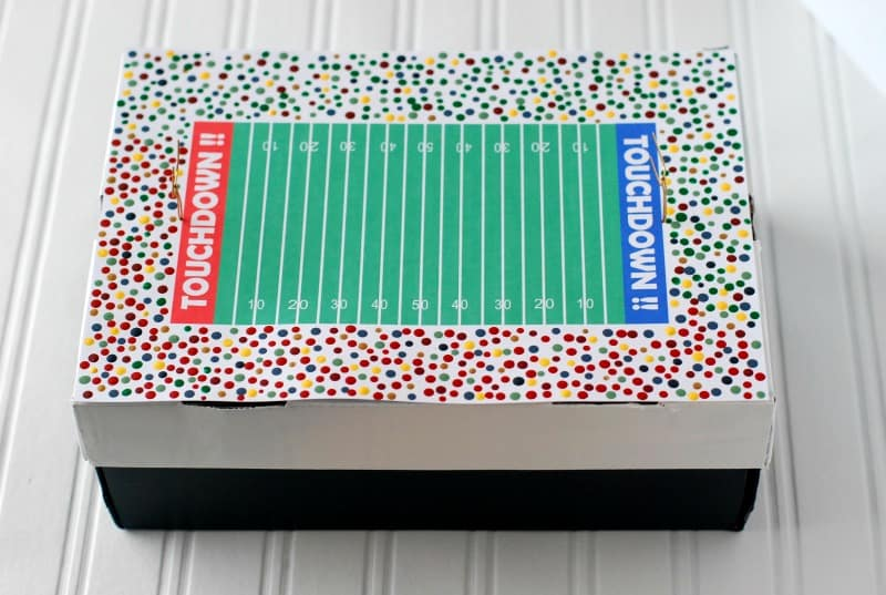 football field valentine box for boys soccer valentine box