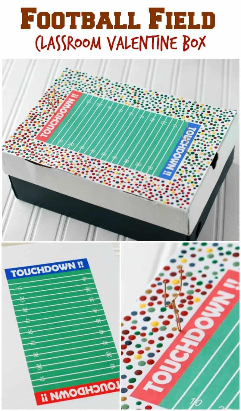 football field classroom valentine box finally a valentine box for boys use the - Soccer Valentine Box