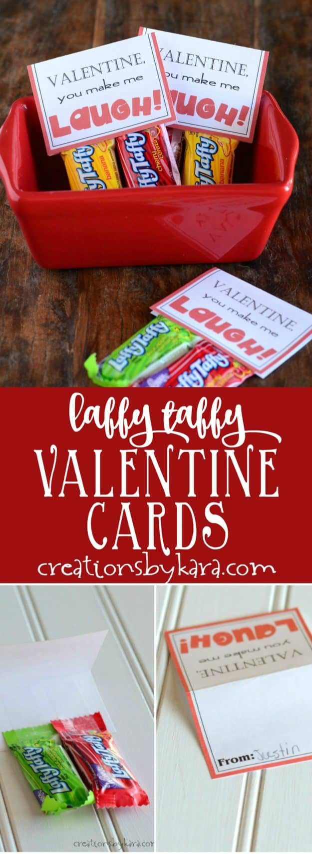 Laffy Taffy Printable Valentine Card collage