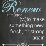2015 Word of the Year- Renew