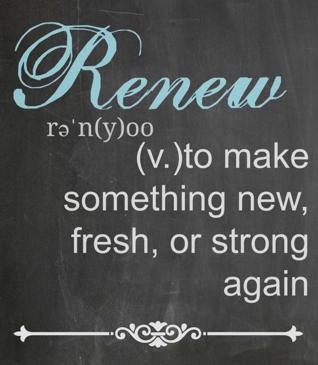 2015 Word of the Year: Renew