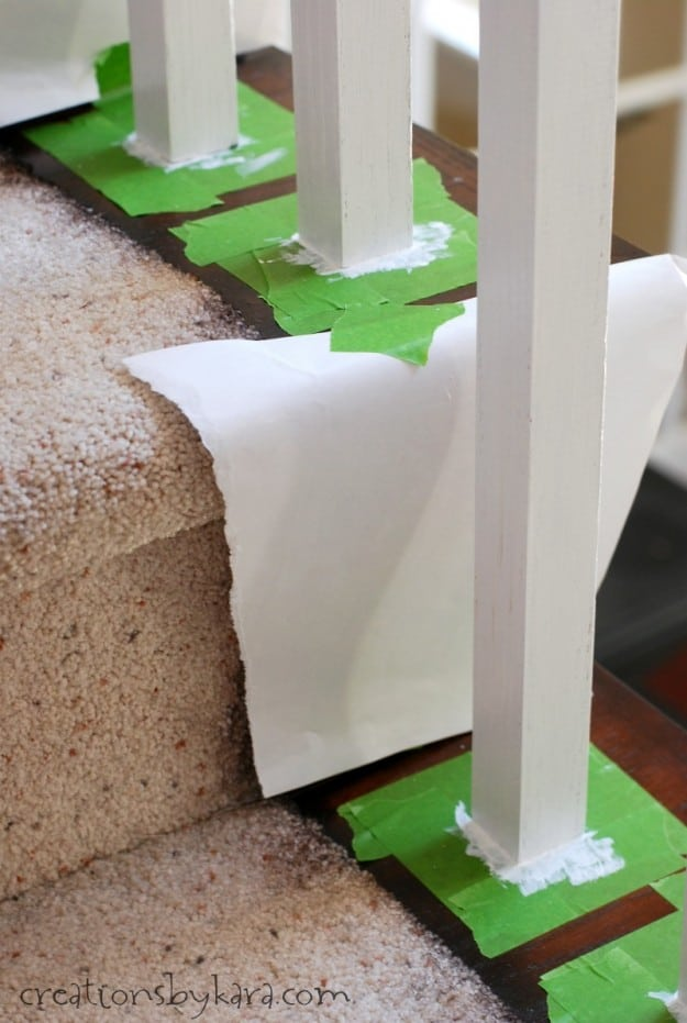 DIY Staircase Makeover With Stain And Paint - 7 cool and very easy diy banister makeovers