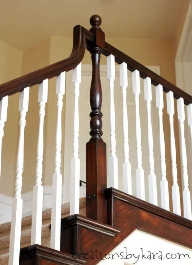 General Finishes Java stain transformed my oak banister!