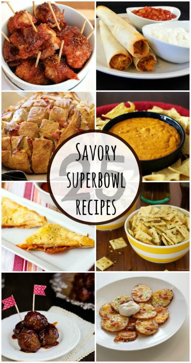 List of 25 mouthwatering Superbowl Recipes.