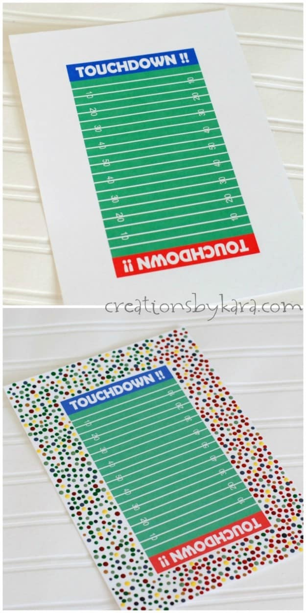 Football field Valentine box for boys