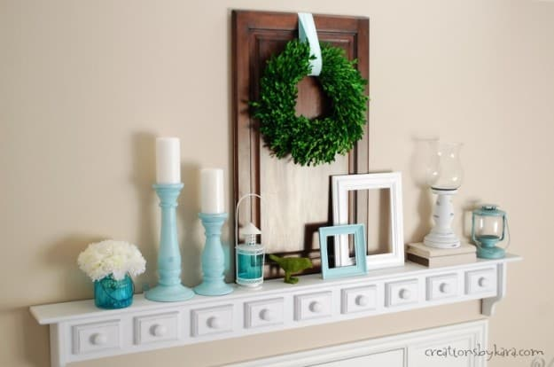 Aqua Entry Shelf Makeover