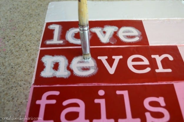Stenciled DIY Valentine Sign Tutorial