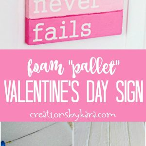 pallet valentine's day sign tutorial collage