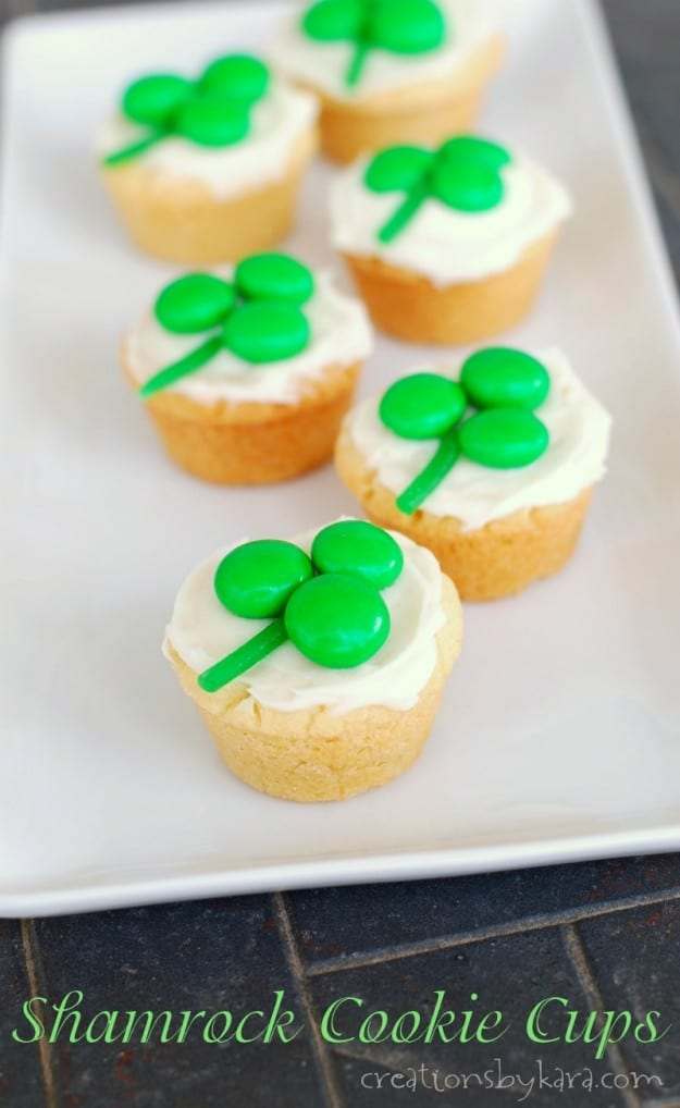 Shamrock Cookie Cups title photo