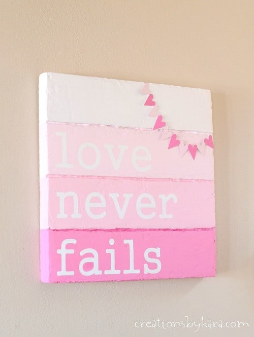 Valentine's Day Sign with Bunting