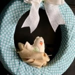 Fabric Wrapped Wreath for Spring