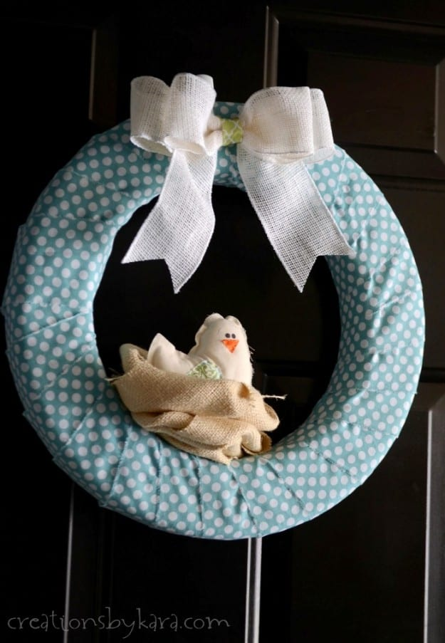 Bird nest spring wreath for 2 little birds sat on my window