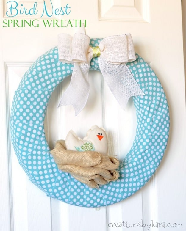 Bird Nest Spring Wreath Tutorial