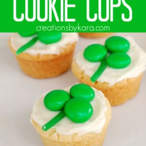 st patricks day cookie cups Pinterest Pin