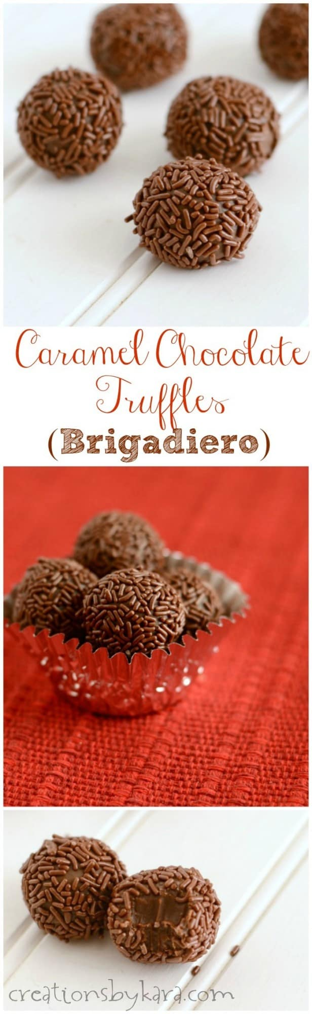 Brigadeiro candy recipe collage