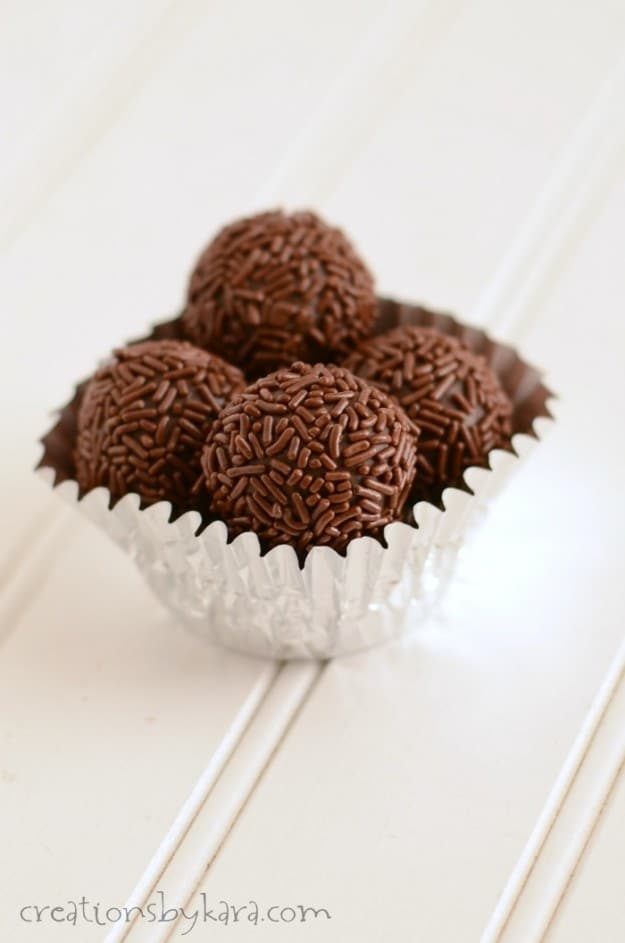 Caramel Chocolate Truffles- Just 4 ingredients, and so indulgent!