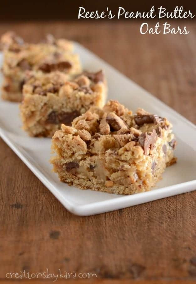 Reeses Peanut Butter Oat Bars