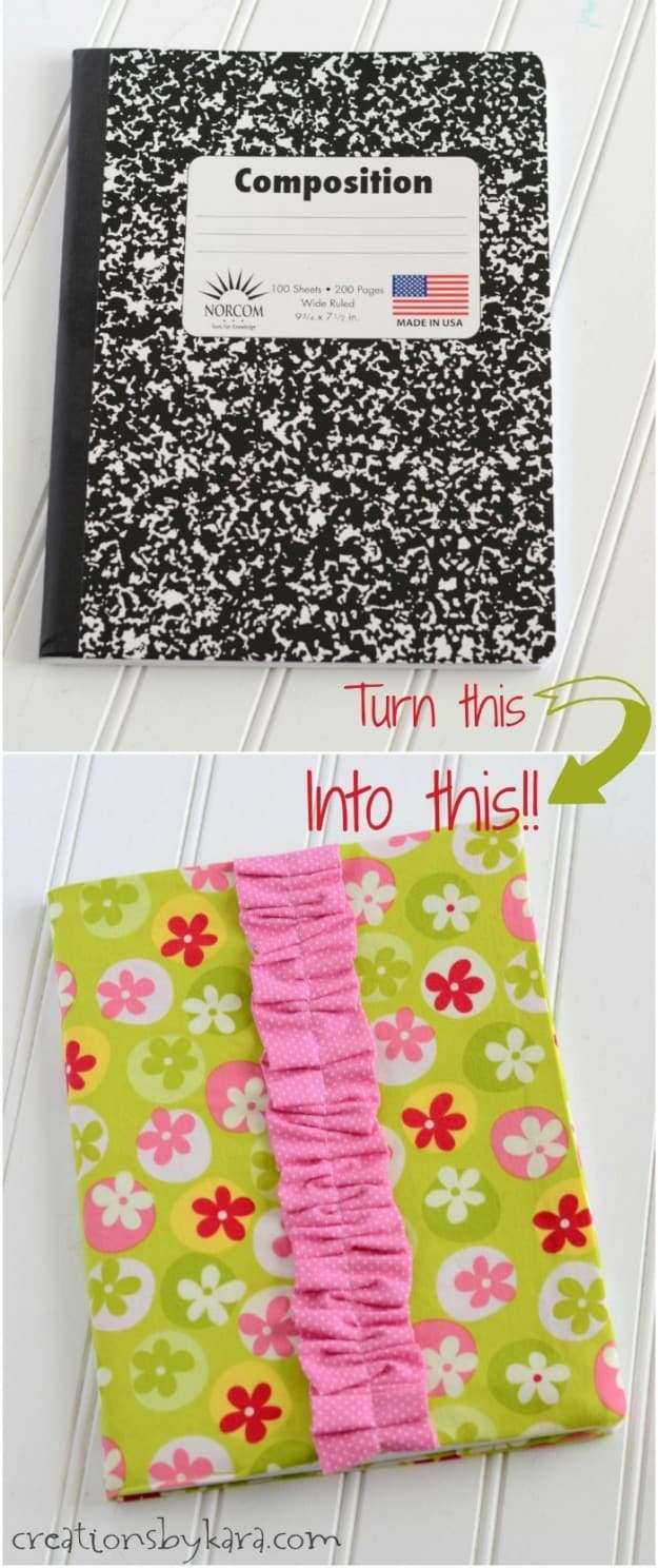 Fabric Cover For Composition Book ~ Fabric composition notebook cover tutorial