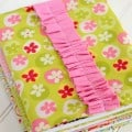 How to make fabric covers for composition notebooks. Makes a great gift!