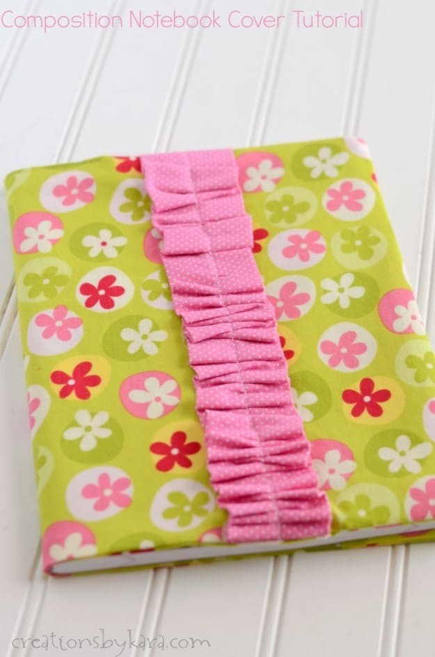 These composition notebook covers are easy to make, and perfect for gift giving!