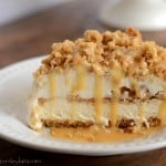 Recipe for Caramel Crunch Dessert. A decadent frozen dessert!