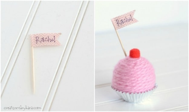 Yarn Cupcake Place Holders