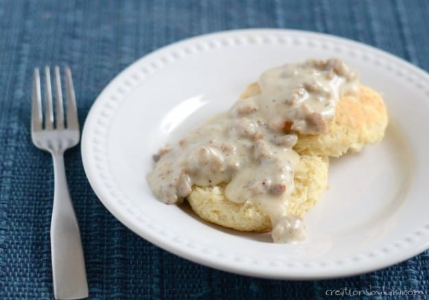 If you have never made Sausage Gravy, you should give this recipe a try. It is easy to make, and so yummy!