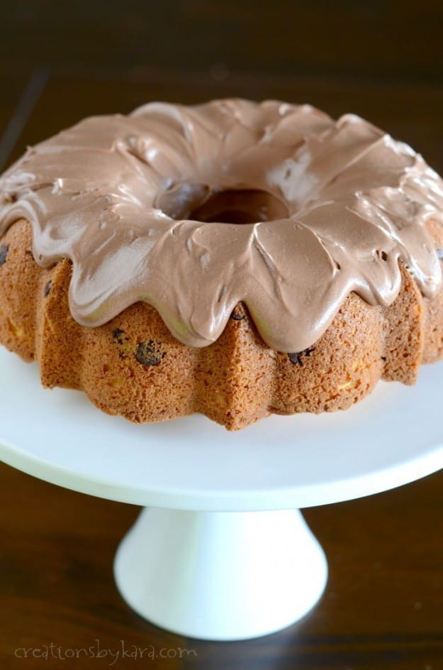 Chocolate Chip Cake with homemade chocolate frosting- and easy, but mouthwatering dessert recipe!