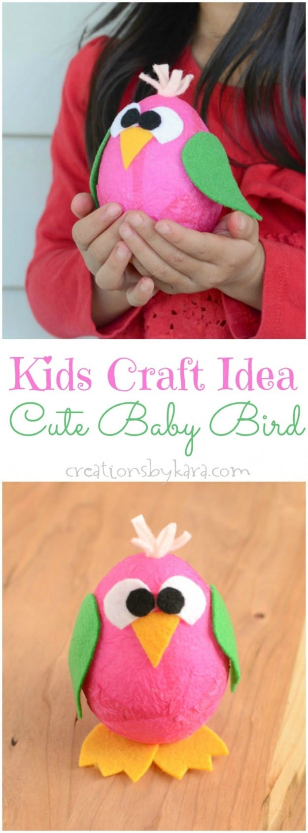 Easy Kids Craft Idea- Cute Baby Bird