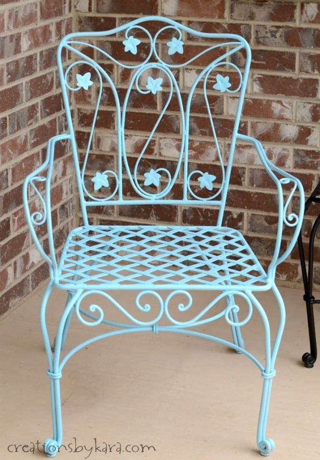 how to transform rusty metal patio furniture. Black Bedroom Furniture Sets. Home Design Ideas