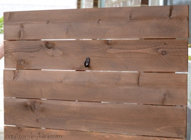 Wood Sign stained dark walnut