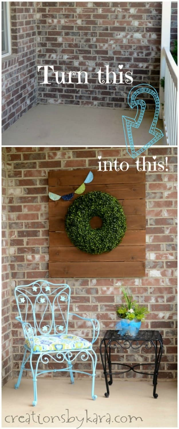 Front porch decorated for spring.