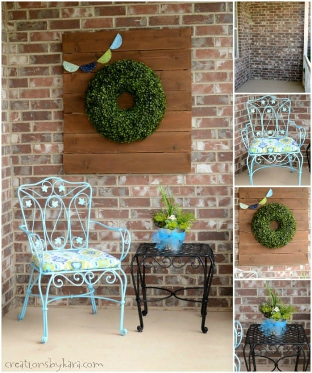 Porch Nook Makeover Before and After