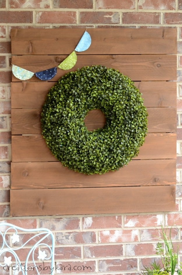 Boxwood Wreath Sign for the Front Porch