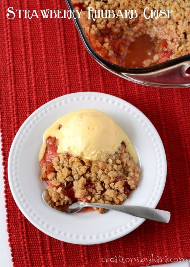 Use up your fresh rhubarb with this tasty dessert!
