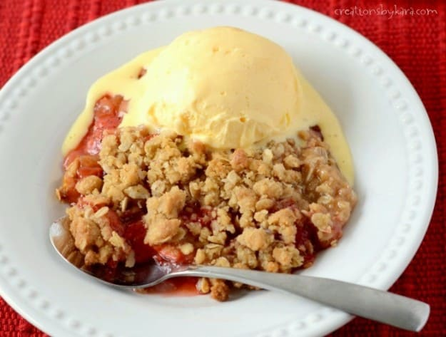 Excess rhubarb? Try this recipe for Strawberry Rhubarb Crisp!