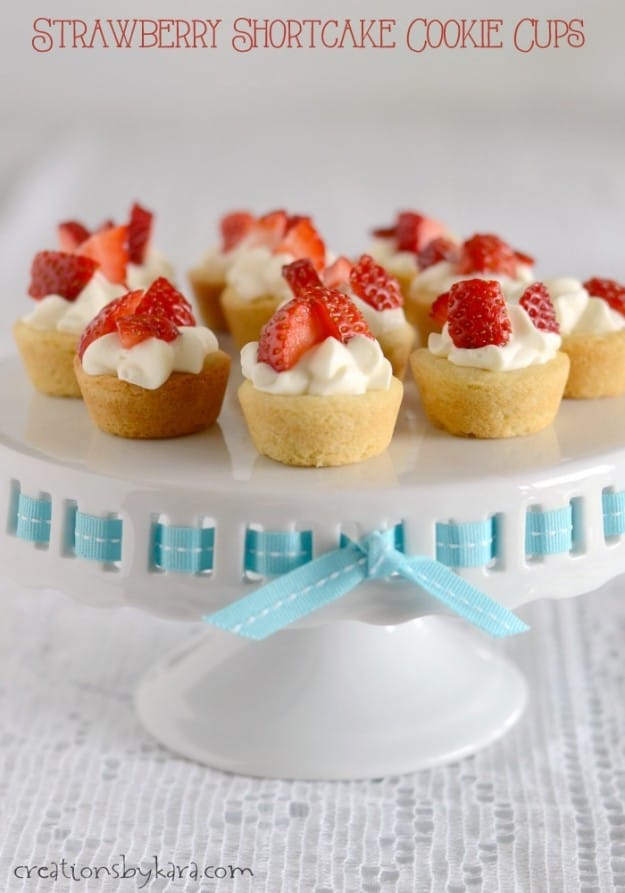 These bite sized Strawberry Shortcake Cups are easy to make and fun to serve!