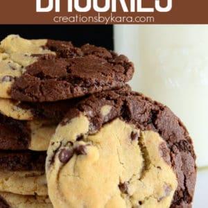 brookies cookies recipe pinterest pin