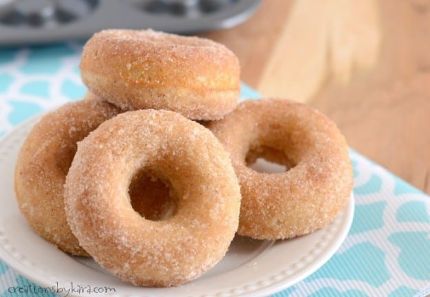 Recipe for easy Baked Cinnamon Sugar Doughnut Recipe