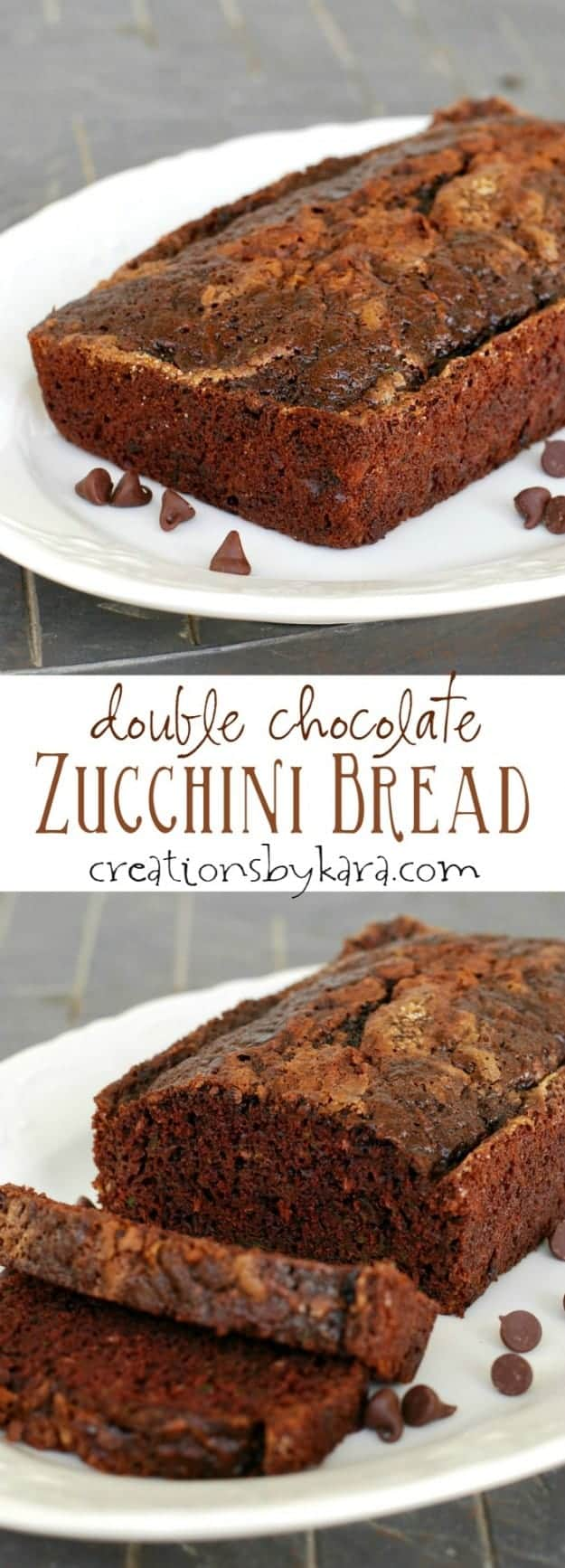 With chocolate chips and a cinnamon sugar topping, this Chocolate Zucchini Bread is unbeatable!