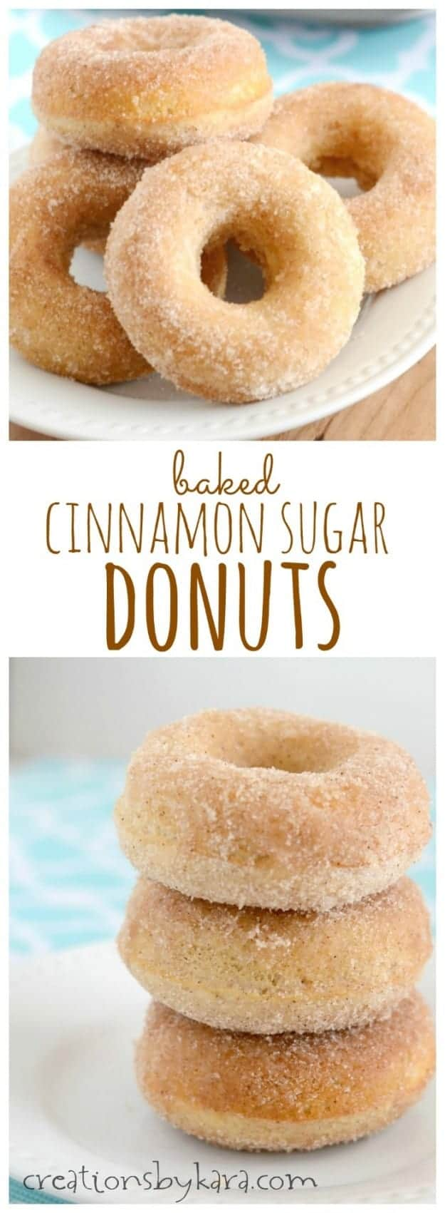 Baked Cinnamon Sugar Donuts collage