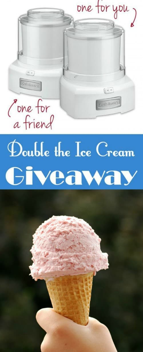 Cuisnart Ice Cream Maker Giveaway
