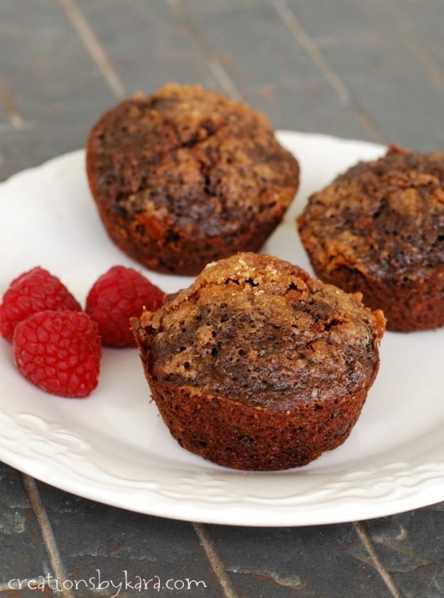 Double Chocolate Zucchini Bread or muffins