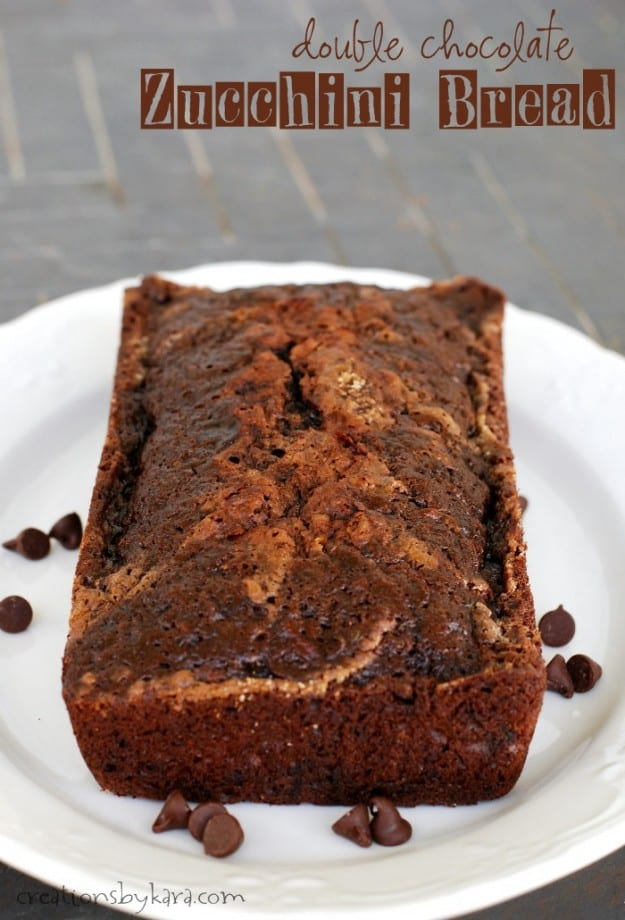 double chocolate zucchini bread title photo