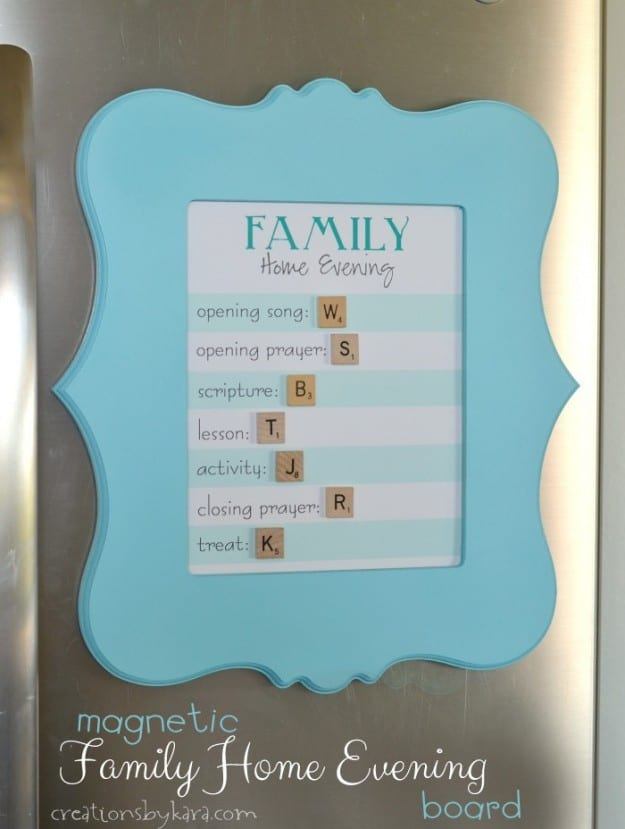Magnetic Family Home Evening Board